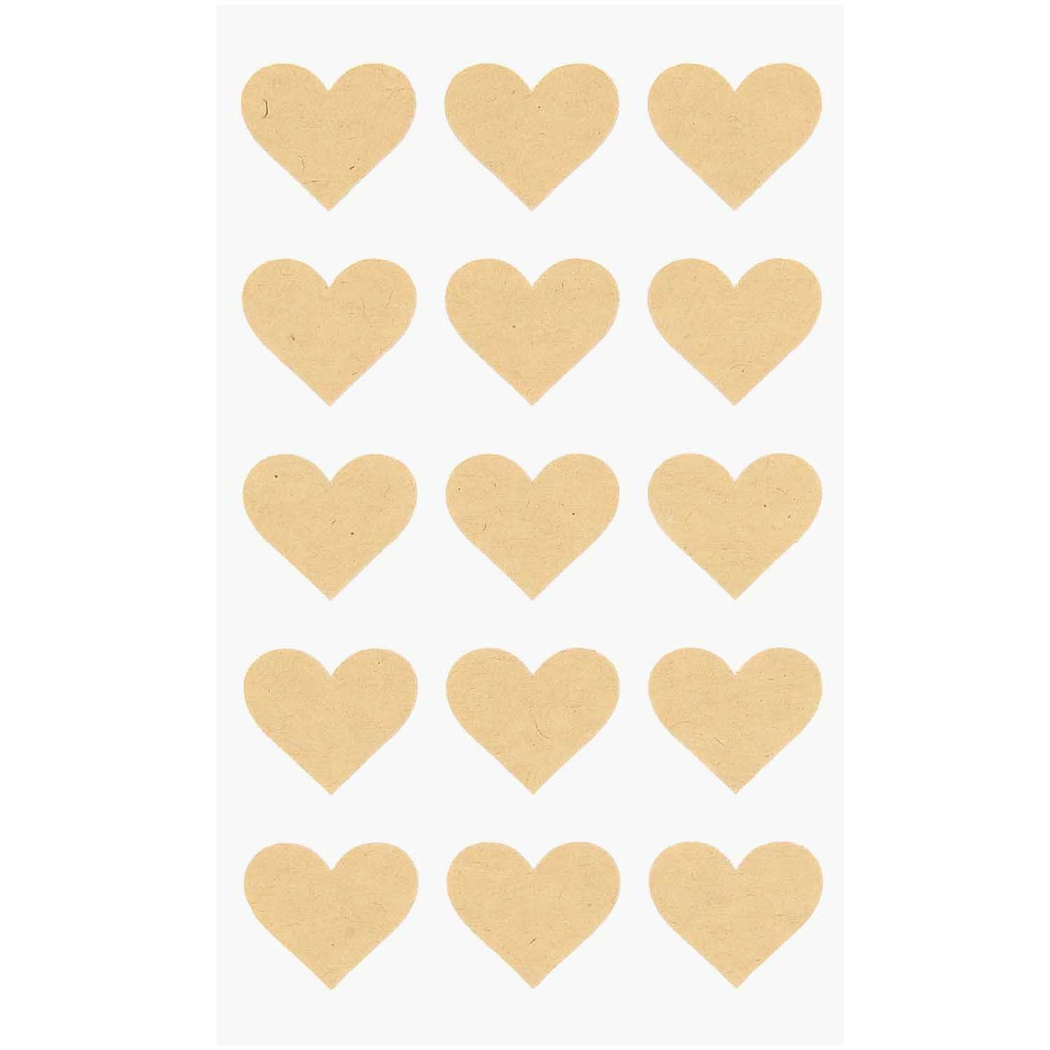 Rico NAY CRAFT PAPER STICKERS, HEARTS 15 X 10 CM, 60 PCS