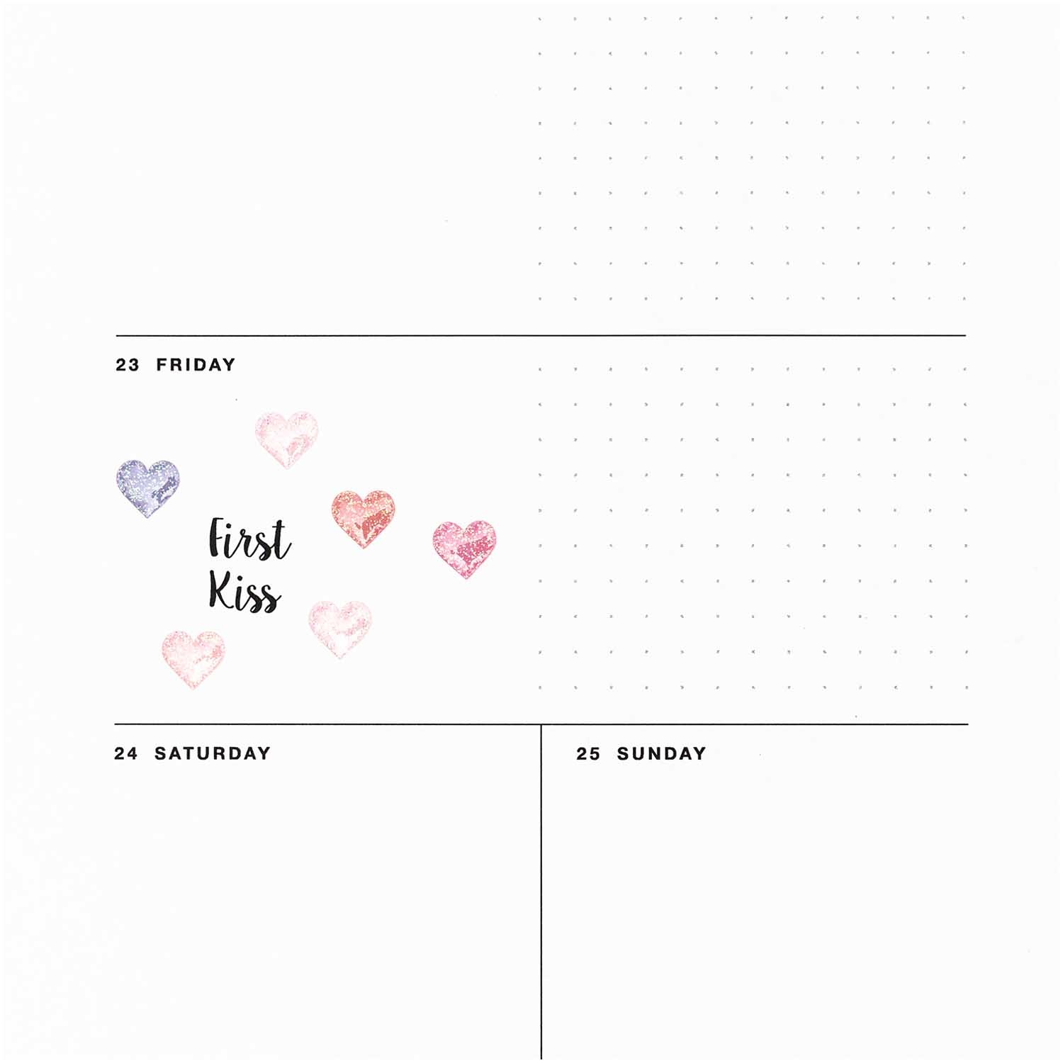 Rico NAY GEL STICKERS, HEARTS SMALL, GLITTER 9,5 X 19 CM