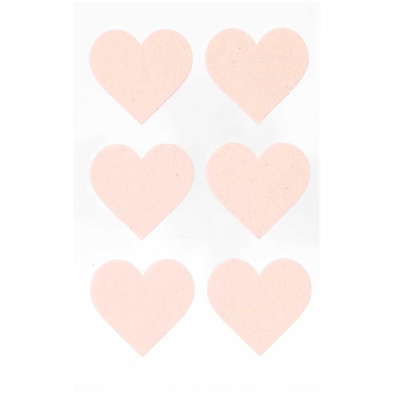 Rico NAY FELT STICKERS, HEARTS LARGE, POWDER 1 SHEET