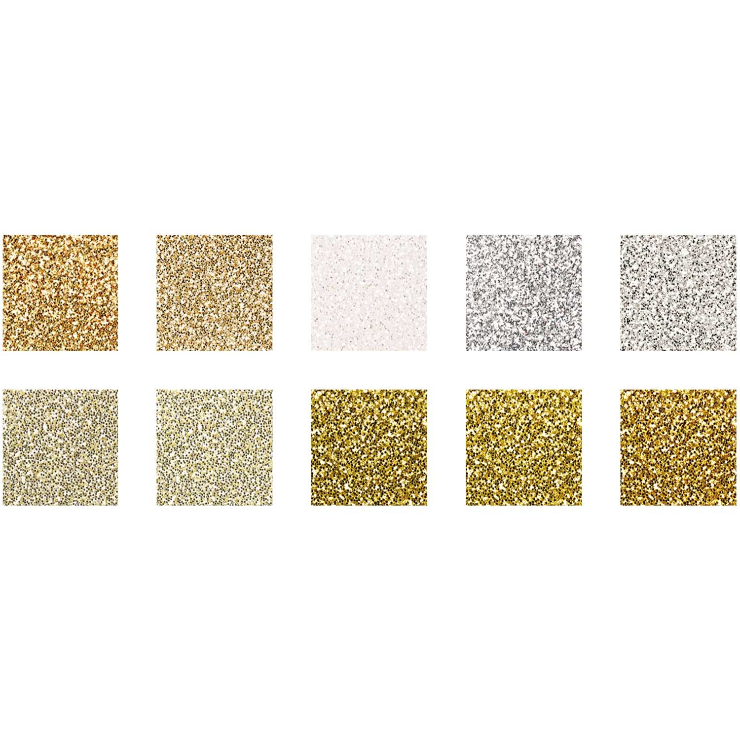 Rico NAY GLITTER PAPER PAD, GLAMOUR MIX 10 SHEETS, 210X295 MM, 180 G