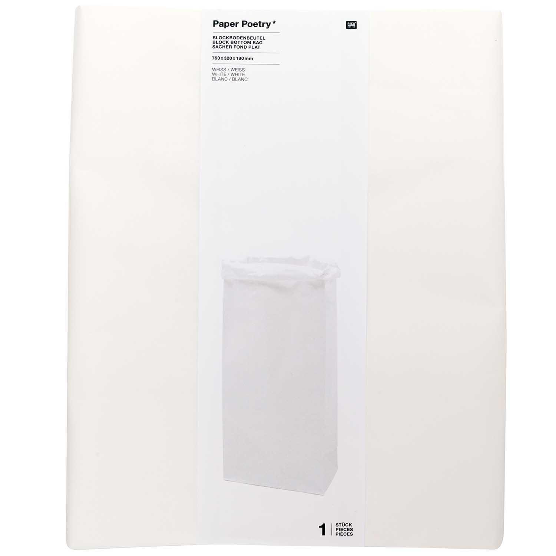 Rico NAY BLOCK BOTTOM BAG,  XL 76/32/18 CM, WHITE/WHITE