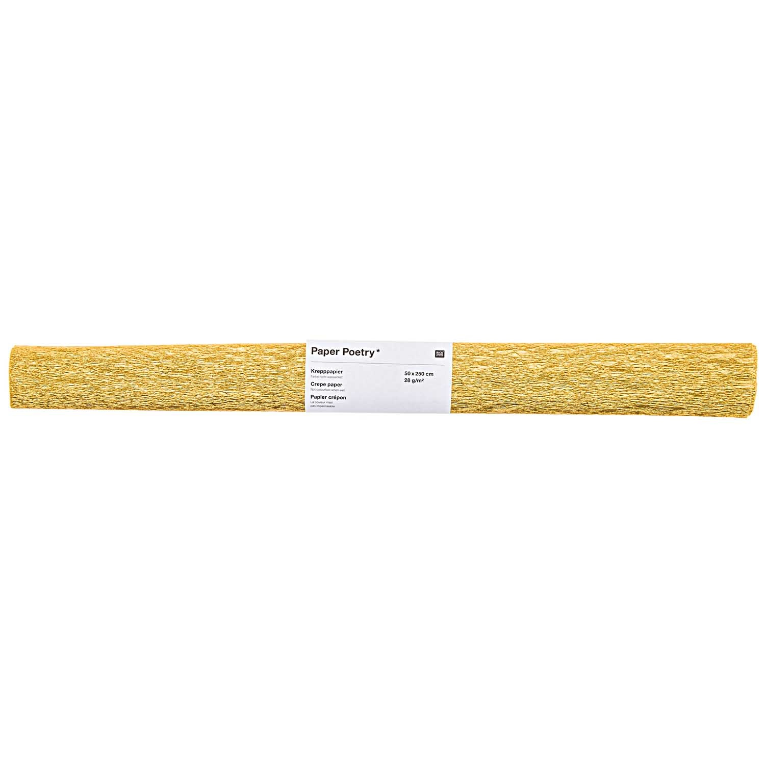 Rico NAY CREPE PAPER, GOLD 50 X 250 CM