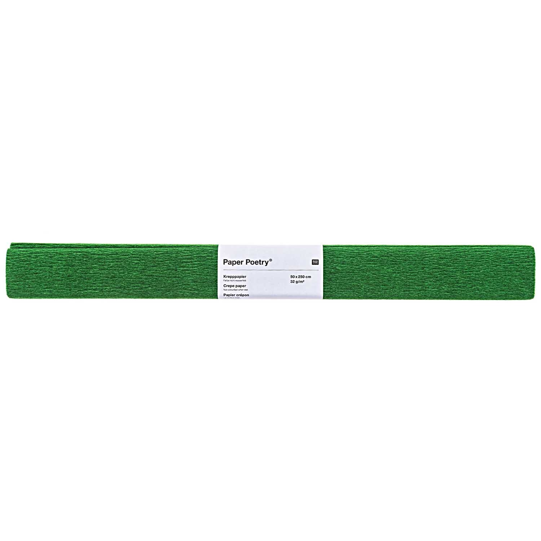 Rico NAY CREPE PAPER, DARK GREEN 50 X 250 CM