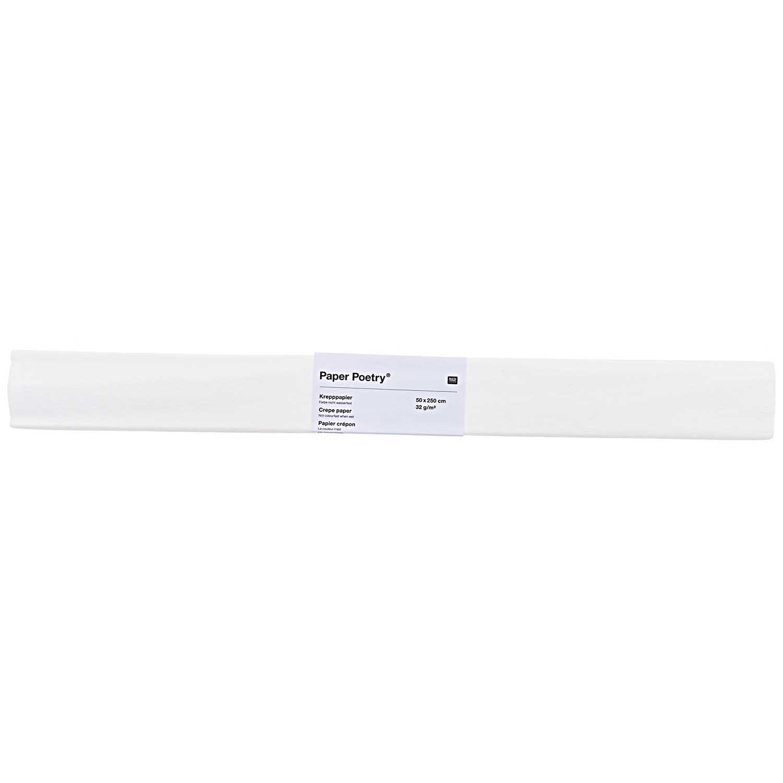 Rico NAY CREPE PAPER, WHITE  50 X 250 CM