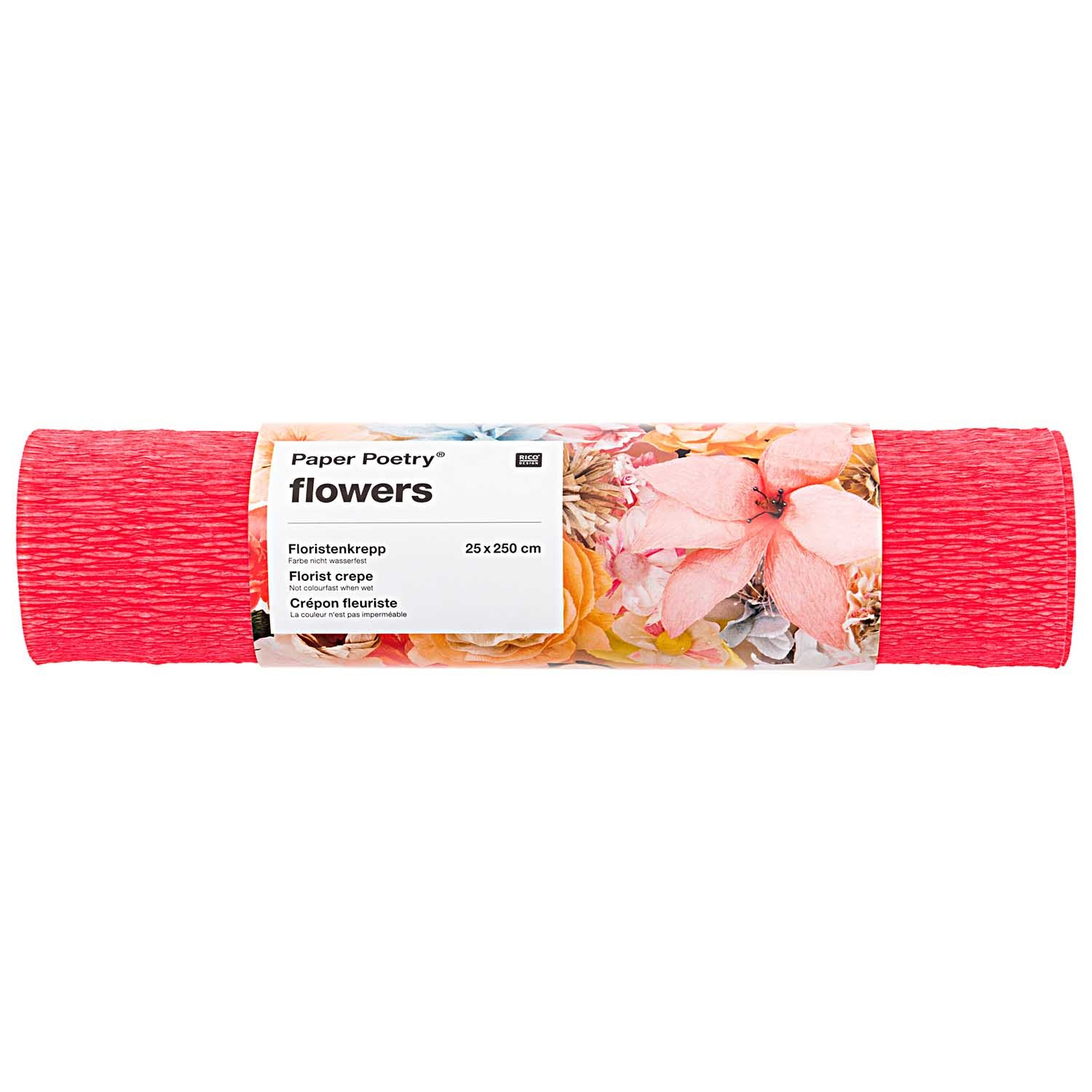 Rico NAY FLORIST CREPE 25X250CM, RED