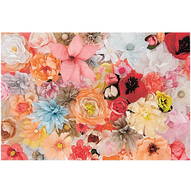Rico NAY FLOWER PIPS, PINK/YELLOW  100 PCS, 6 CM