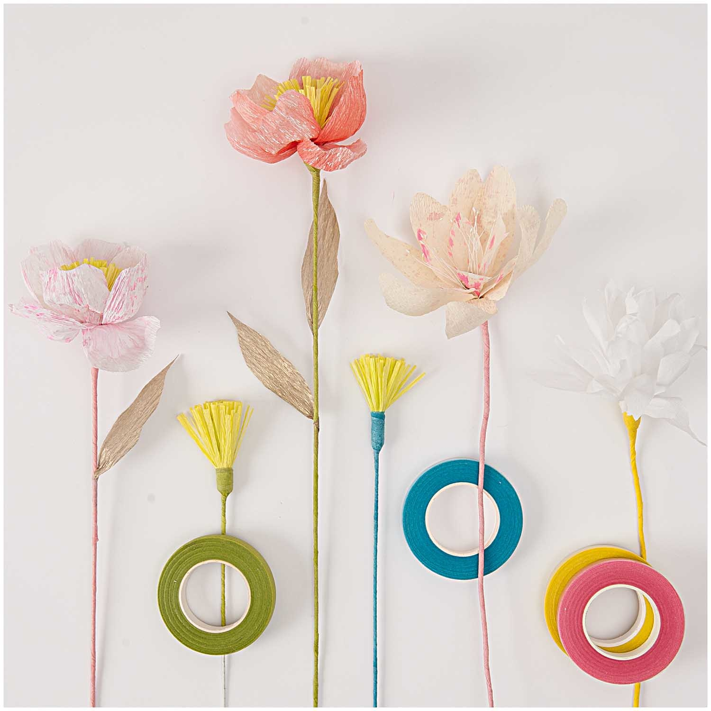 Rico NAY FLOWER PIPS, YELLOW/PINK  100 PCS, 6 CM