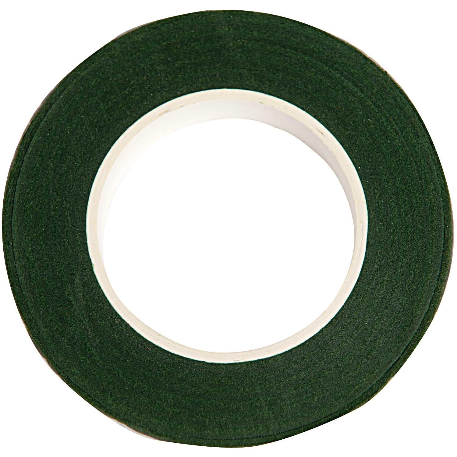 Rico NAY FLORAL CREPE TAPE, DARK GREEN  12 MM X 27,5 M