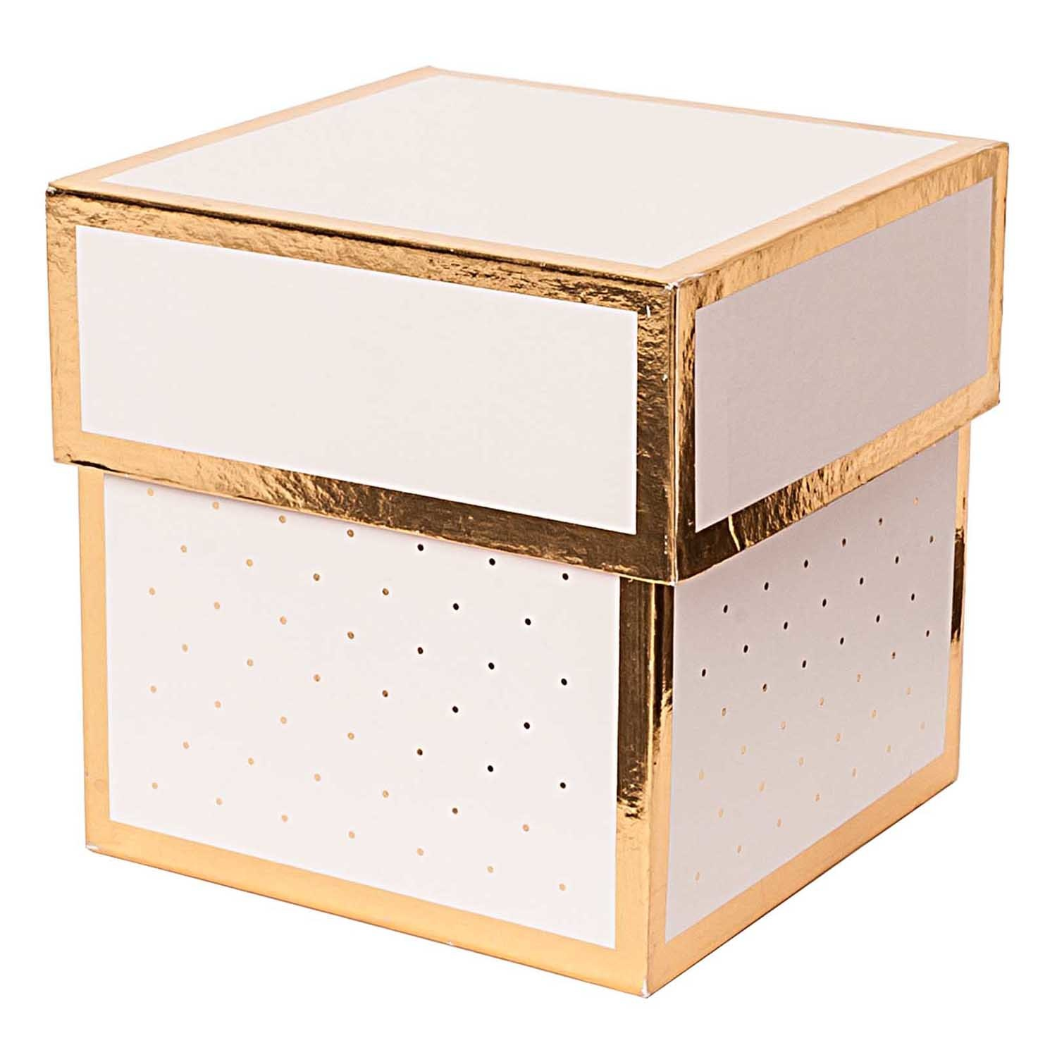 Rico NAY GIFT BOX, PINK, SQUARE, FSC RECYCLED 10X10X10 CM