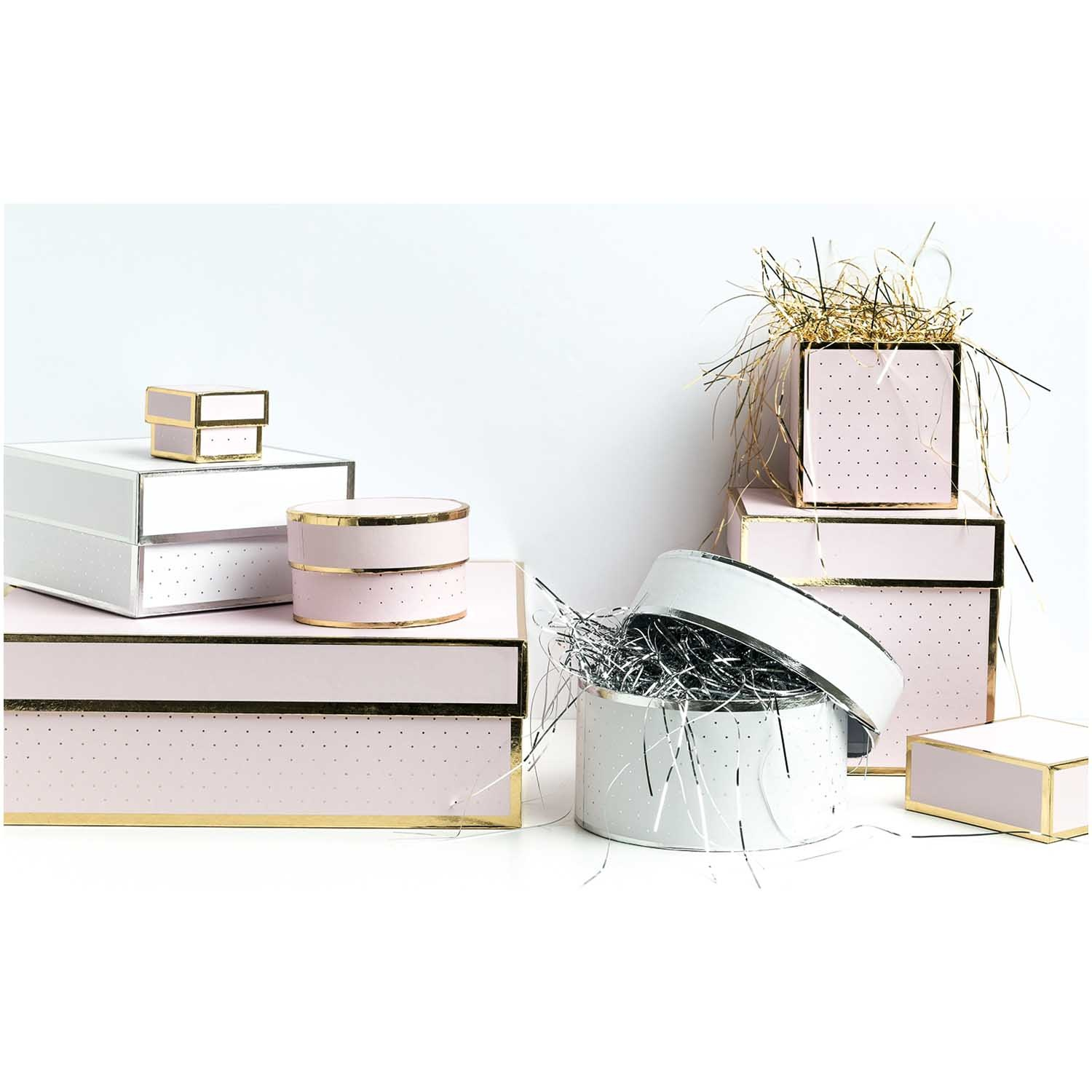Rico NAY GIFT BOX, PINK, ROUND, FSC RECYCLED 10X6 CM