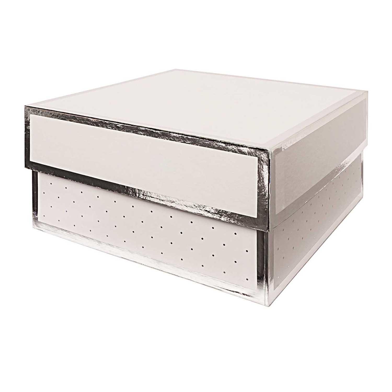 Rico NAY GIFT BOX, WHITE, SQUARE, FSC RECYCLED 15X15X8 CM