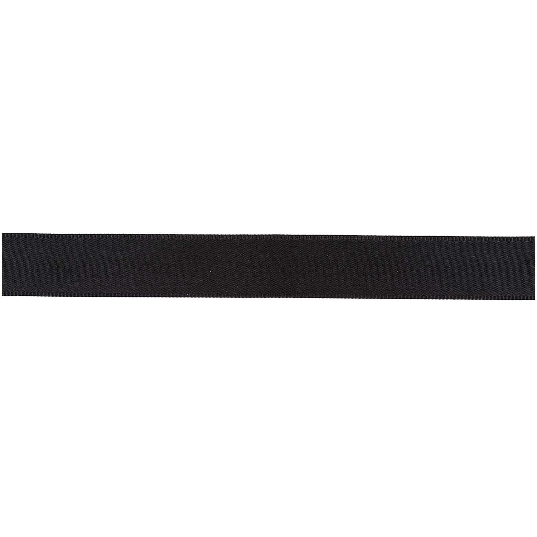 Rico NAY GROSGRAIN RIBBON, BLACK 25 MM / 3 M