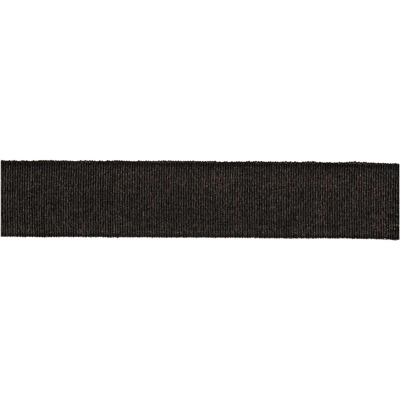 Rico NAY LUREX GROSGRAIN RIBBON, BLACK 25 MM / 3 M