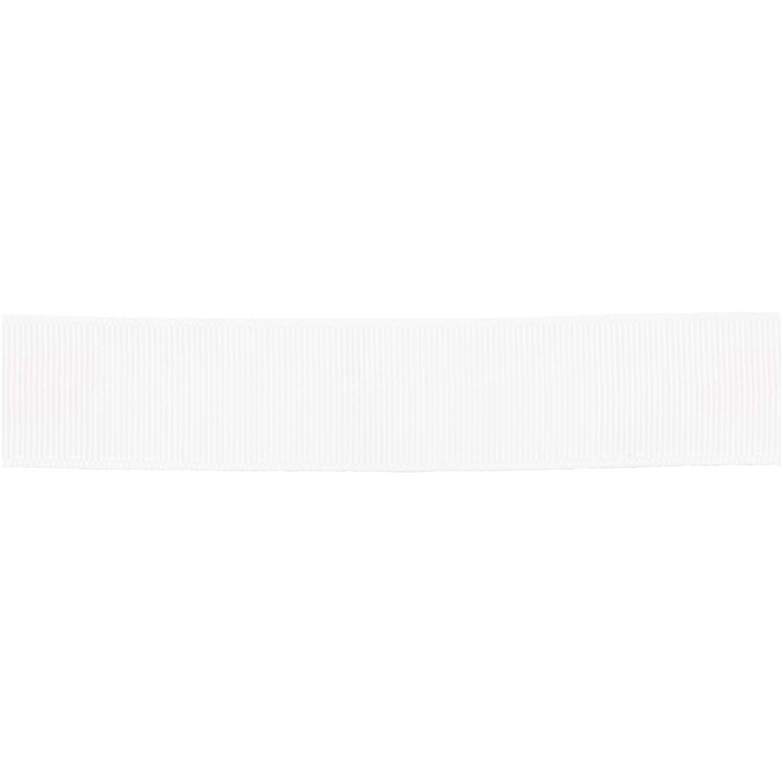 Rico NAY GROSGRAIN RIBBON, WHITE  25 MM / 3 M