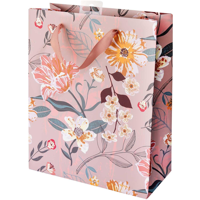 Rico NAY GIFT BAG,FLOWERS, MAUVE, FSC MIX L, 26 X 32 X 12 CM