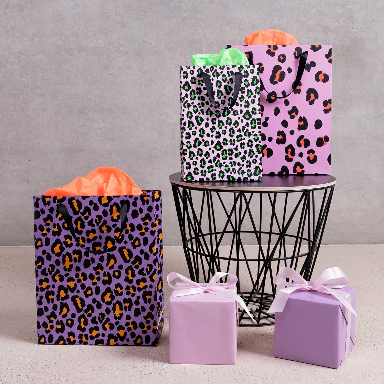 Rico NAY Gift bag, Acid Leo, pink, L, FSC MIX , 26 x 32 x 12 cm