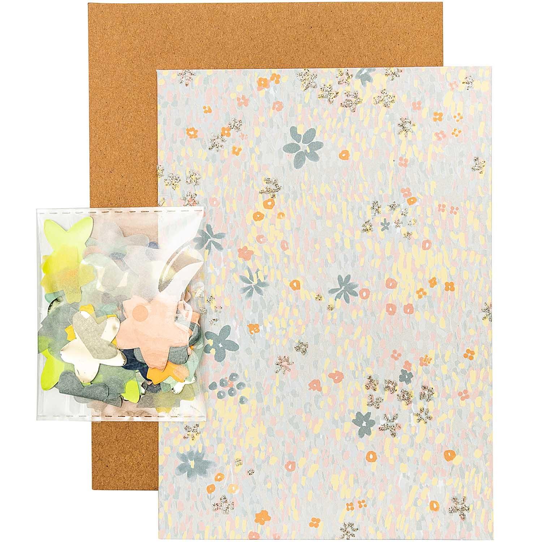 Rico NAY DIY CARD, FLOWER MEADOW, BLUE  CARD/ENVELOPE/CONFETTI/STICKER