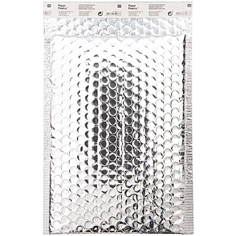 Rico NAY BUBBLE ENVELOPE B5, SILVER  INSIDE 18X27CM/OUTSIDE 20X27CM