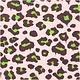 RICO Napkins Acid Leo, pink/green, FSC MIX, 20 pcs, 33 x 33 cm