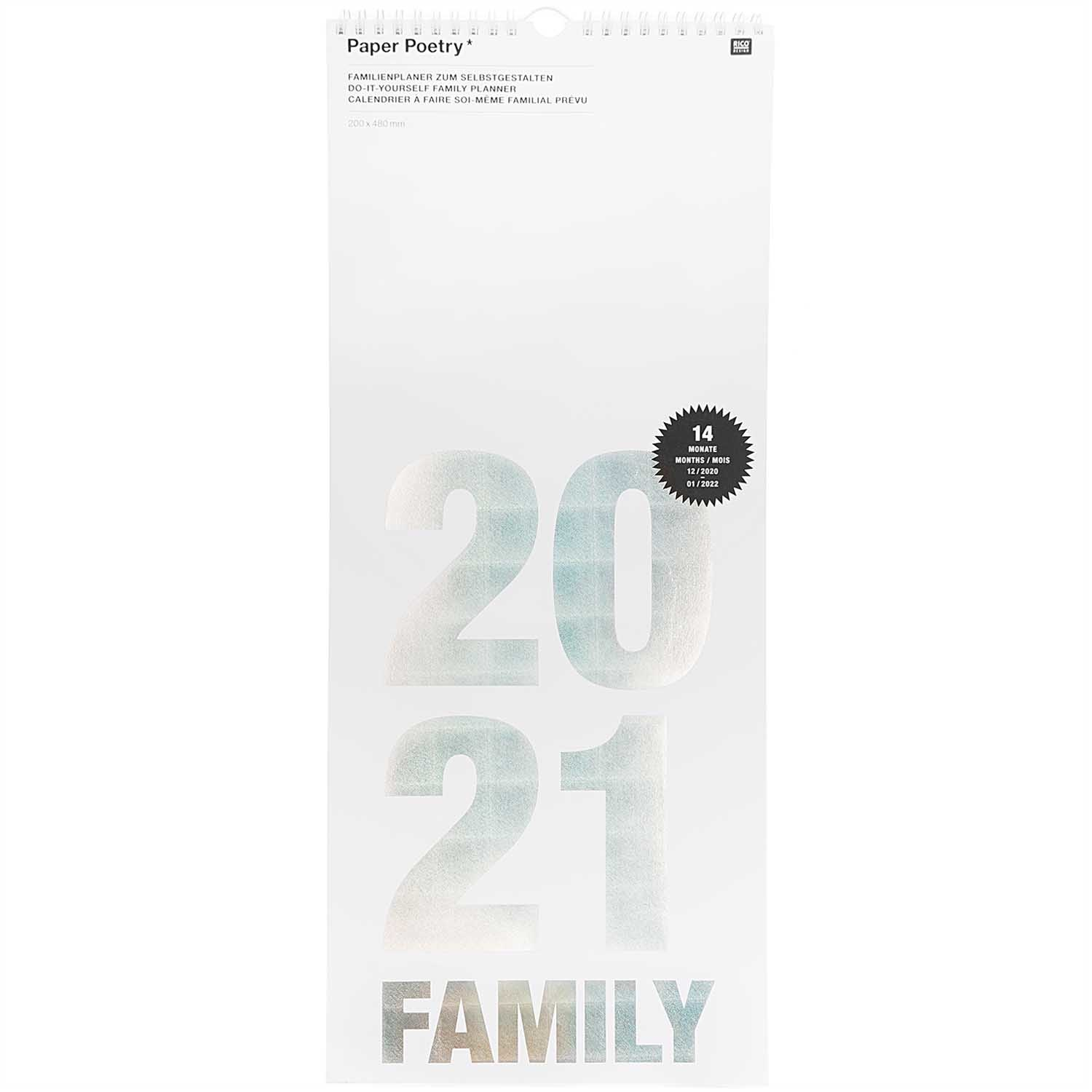Rico NAY FAMILY PLANNER 2021, 20X48 CM