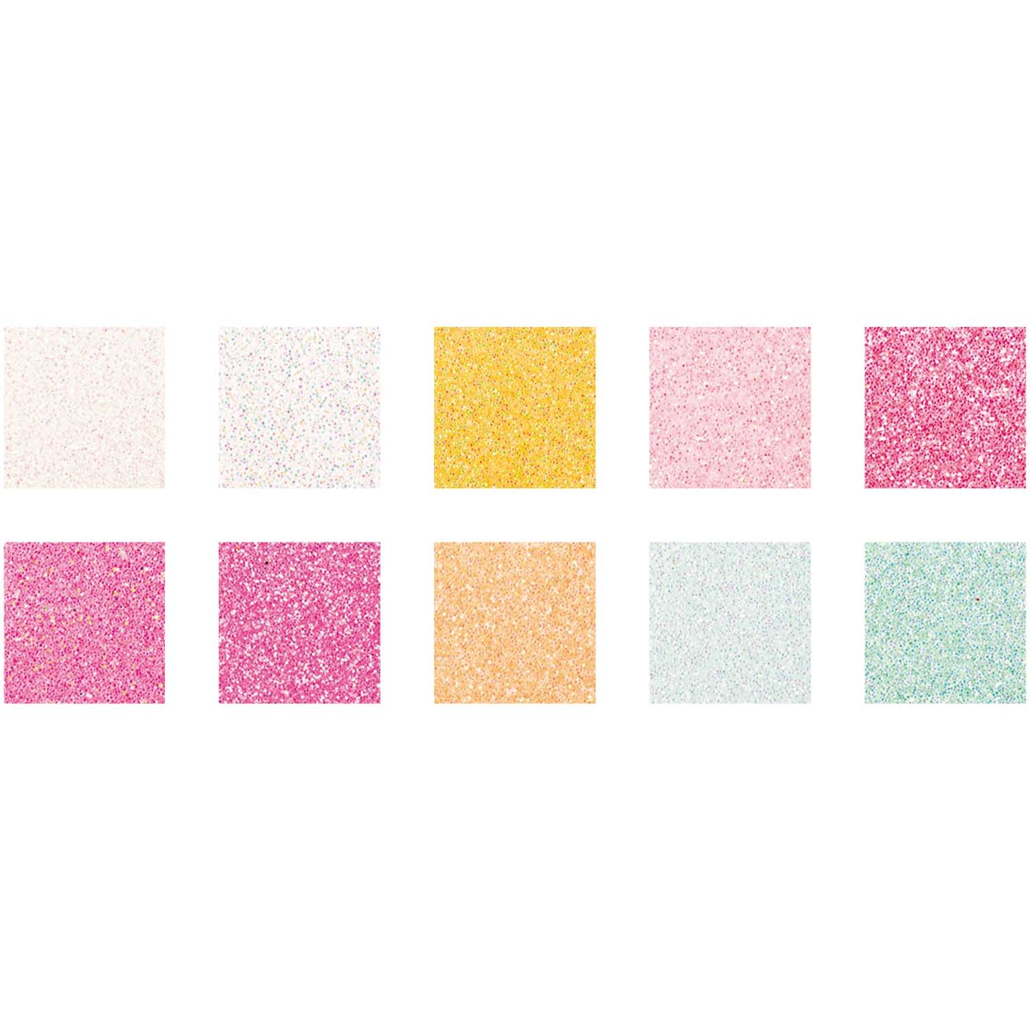Rico NAY GLITTER PAPER PAD, CANDY MIX 10 SHEETS, 210X295 MM, 180 G