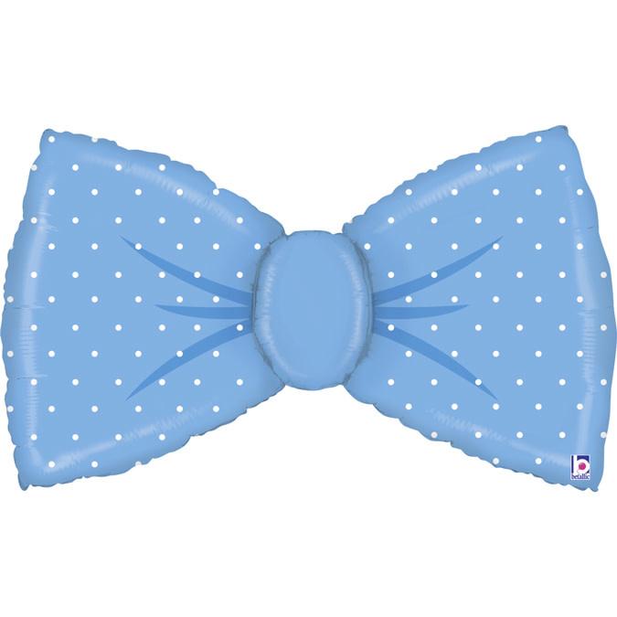 SMP blue bowtie foil balloon 109 cm