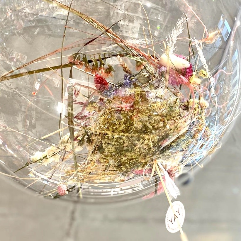 YAY dried flower orb balloon 70 cm with helium