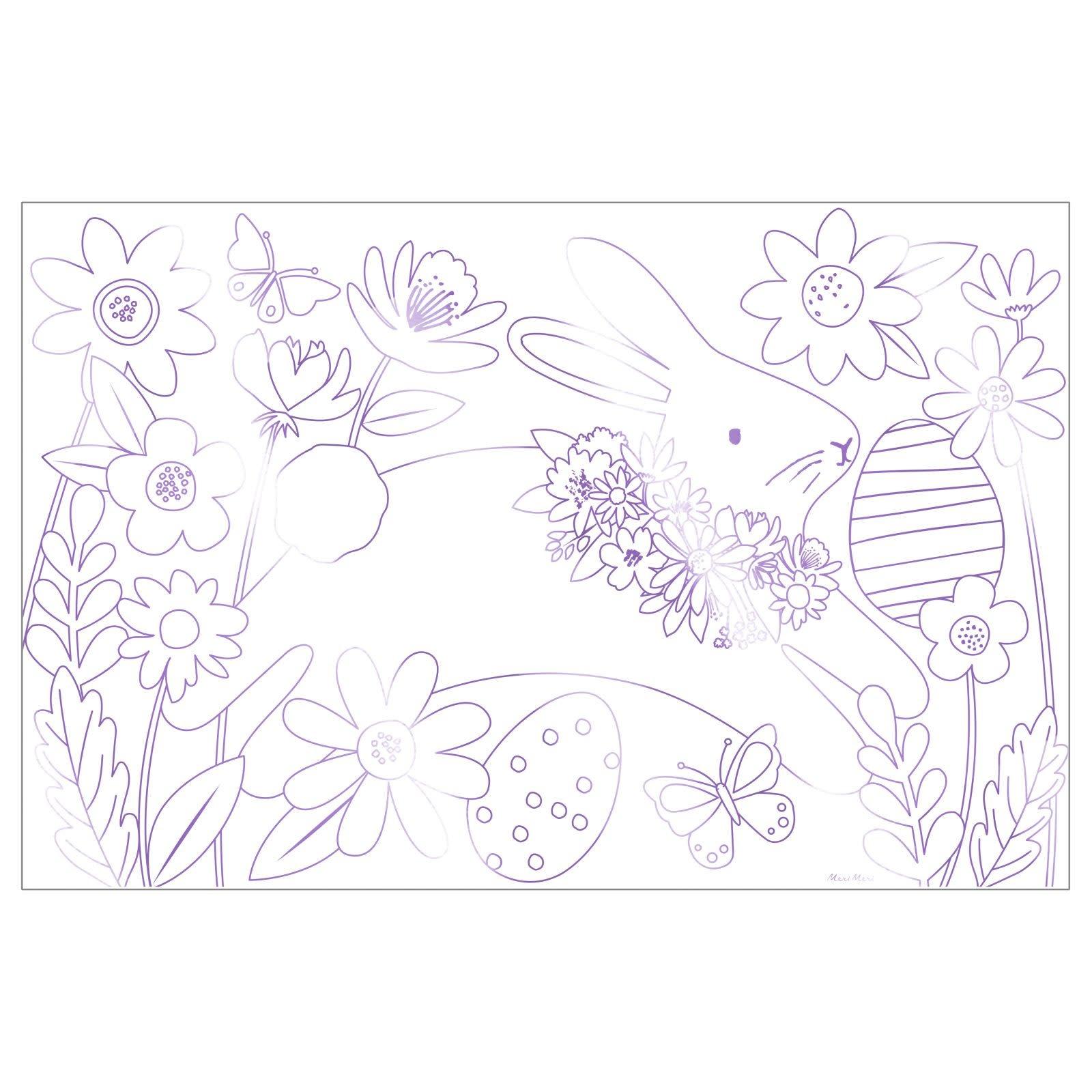 MERIMERI Easter coloring posters