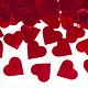 PD Confetti cannon with hearts, red, 80cm
