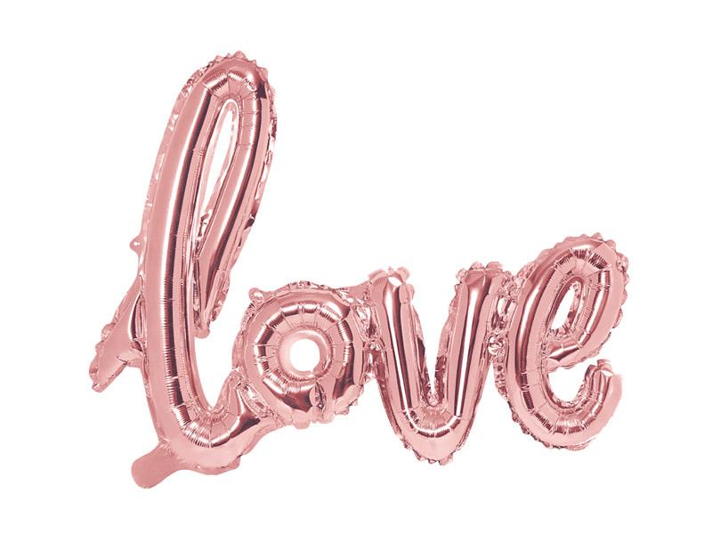 PD Foil Balloon Love, 73x59cm, rose gold