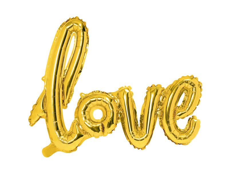 PD Foil Balloon Love, gold, 73x59cm