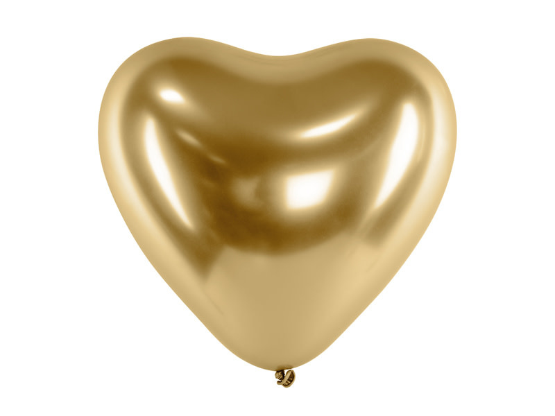 PD Glossy Balloons 30cm, Hearts, gold (1 pkt / 50 pc.)