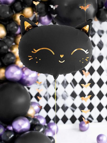 PD Foil Balloon Cat, 48x36cm, black