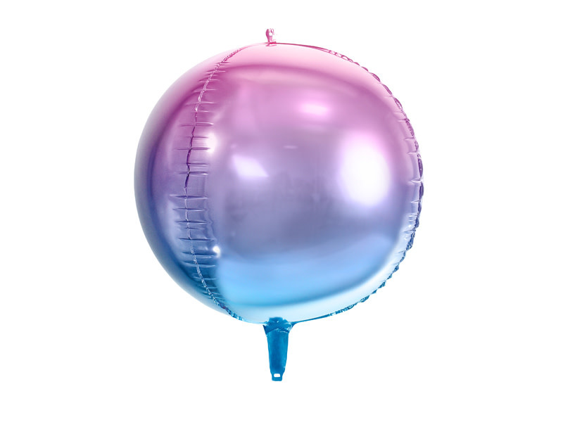 PD Foil Balloon Ombre Ball, violet and blue, 35cm