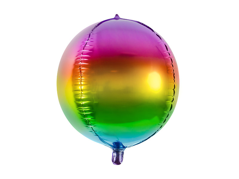 PD Foil Balloon Rainbow Ball, 40cm