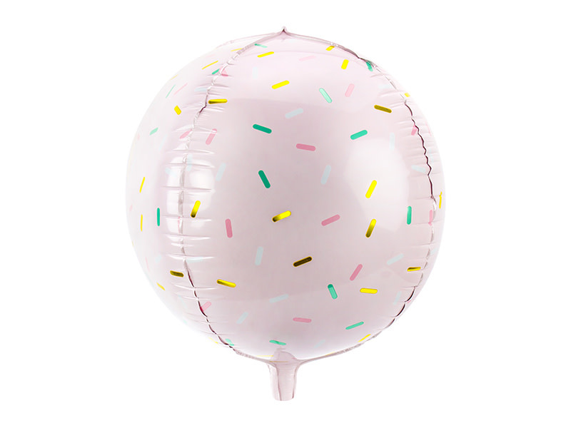 PD Foil balloon Ball - Sprinkle, 40cm, light pink
