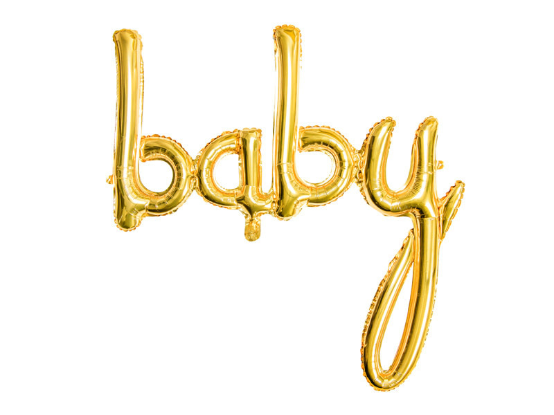 PD Foil balloon Baby, gold, 73.5x75.5cm