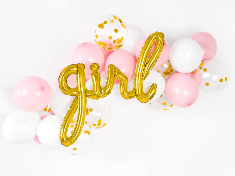 PD Foil balloon Girl, gold, 77x70cm
