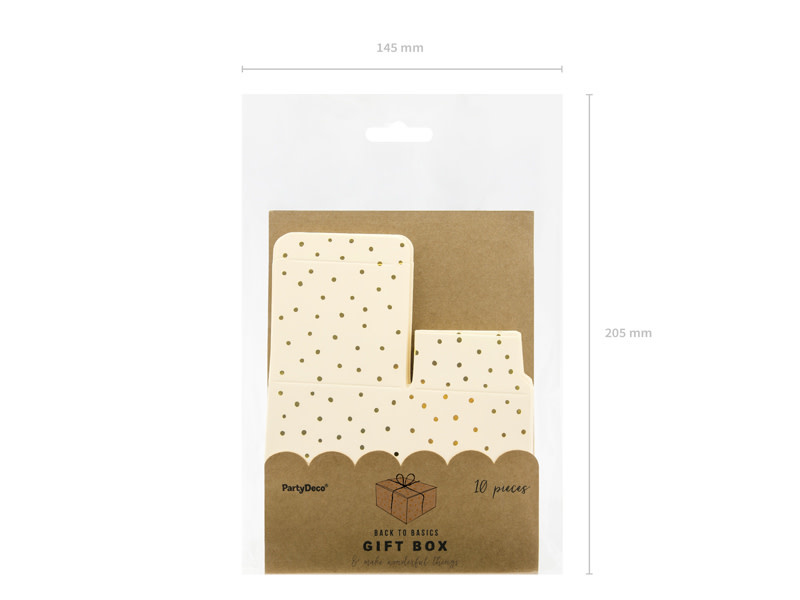 PD Boxes Dots, light peach, 6x3.5x5.5cm (1 pkt / 10 pc.)