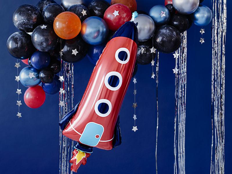 PD Foil balloon Rocket, 44x115cm, mix