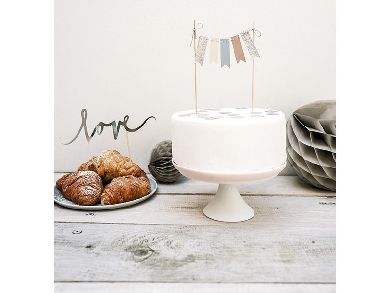 PD Cake topper Bunting Garland, 20cm