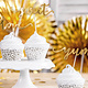 PD Cupcake toppers Love, gold, 13cm (1 pkt / 6 pc.)
