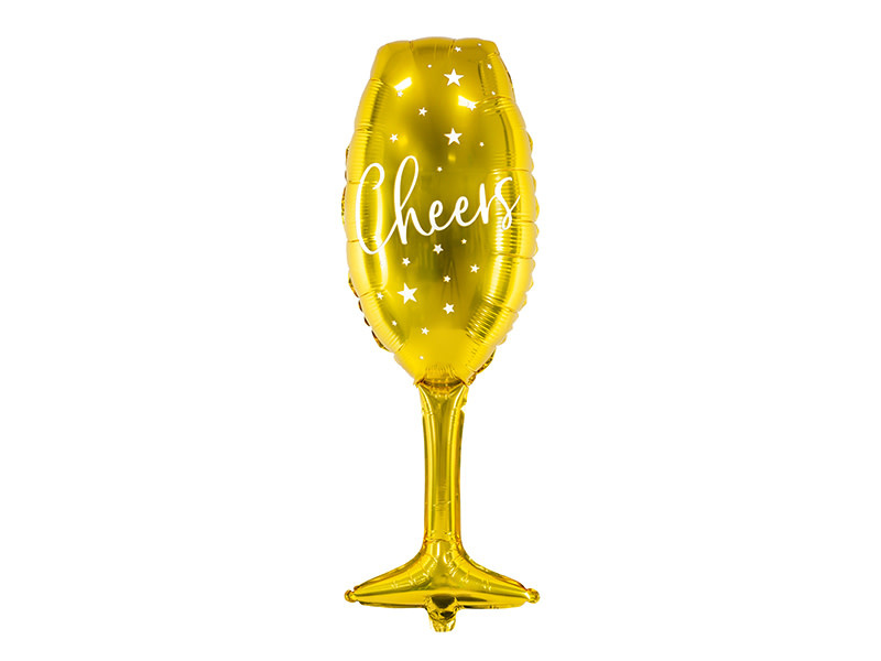 PD Foil balloon Glass, 28x80cm, gold