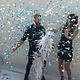 FT Balloon Gender Reveal BLUE Gold Metallic - 90cm