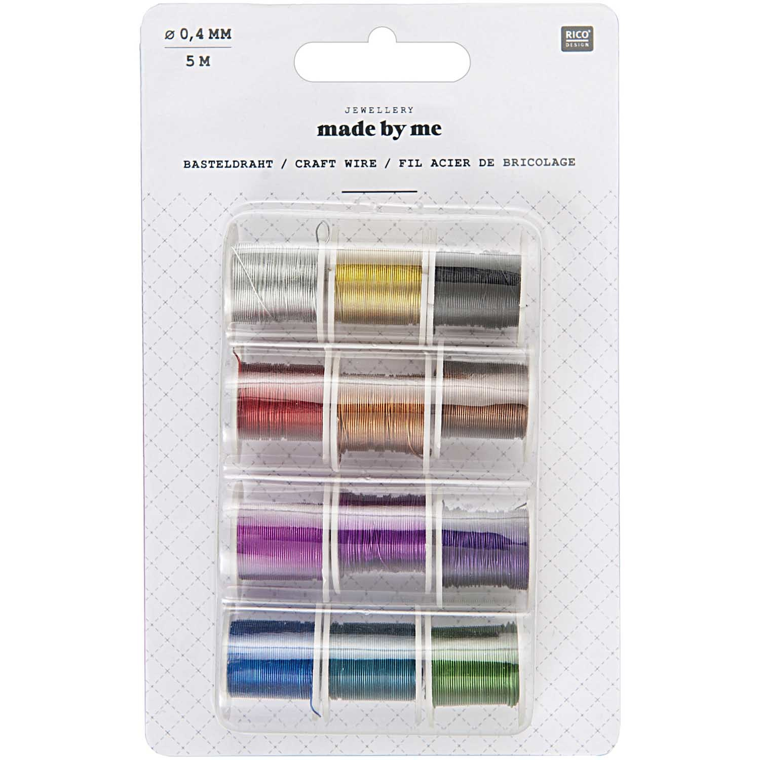 Rico NAY CRAFT WIRE SET 12 SPOOLS, STEEL, 0,40MM/5M