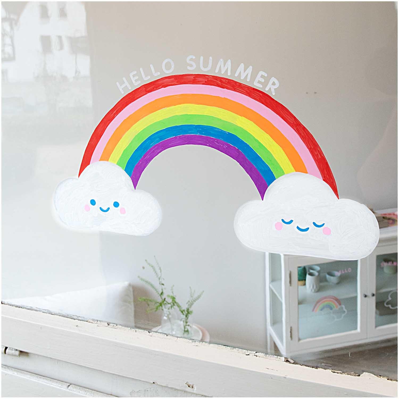 Rico NAY Chalk marker set rainbow, 8 pcs