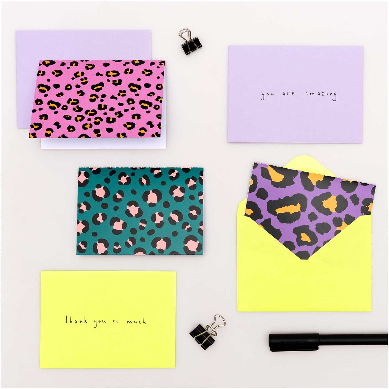 Rico NAY Card Set Acid Leo, C7/A7, 15 cards, 15 envelopes FSC MIX