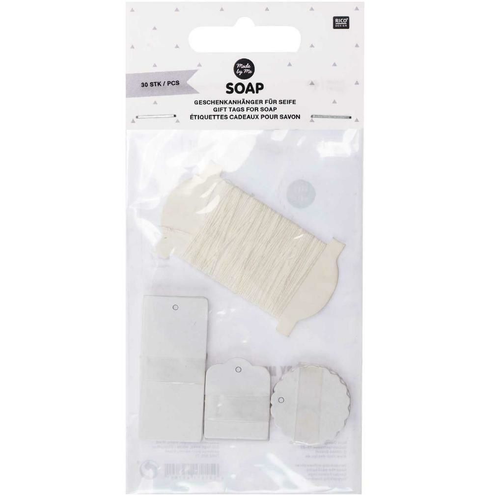 Rico NAY GIFT TAGS SOAP, WHITE, FSC MIX, 30 PIECES