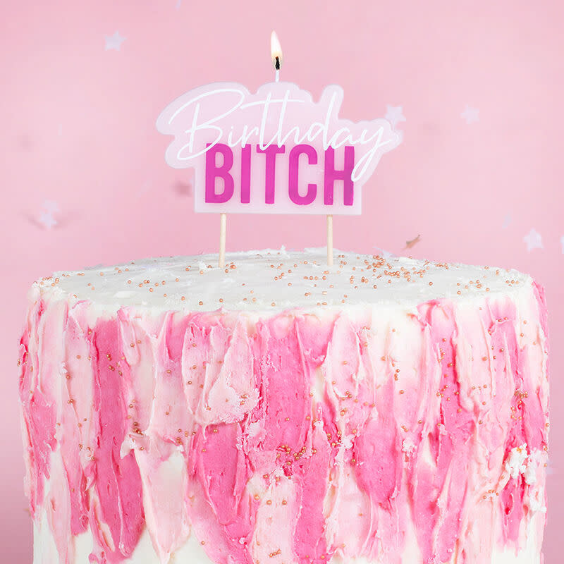 GINGERRAY BIRTHDAY BITCH CAKE CANDLE