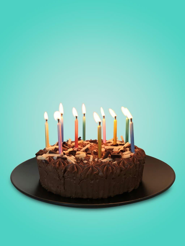 TT Birthday Brights Rainbow Magic Relighting Candles